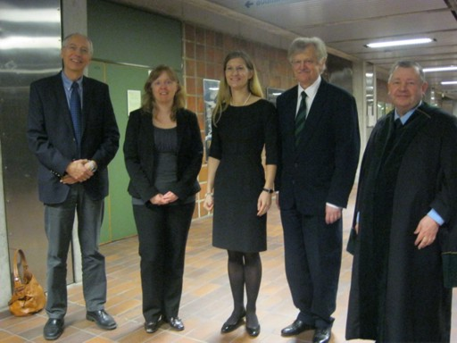 Elaine Olsson's PhD defense: The candidate, the evaluation committee and the leader of the defense.