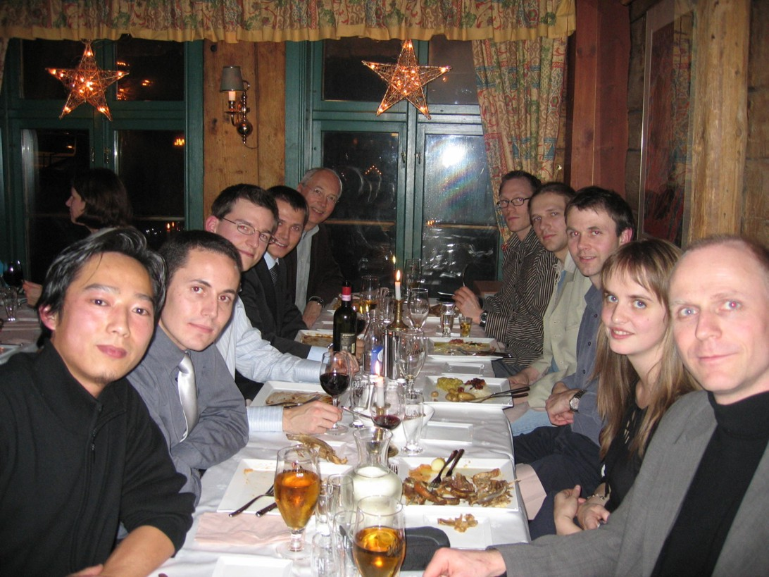 The combined theory and spectroscopy group at the Julebord (
